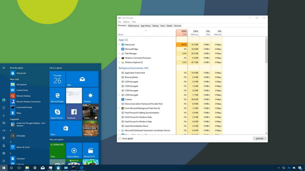 upravitelj opravil namizje Windows 10