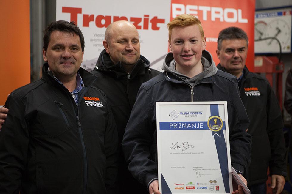 Mladi mehanik 2019 - zmagovalec Žan Gros